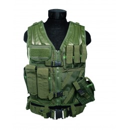 Mil-Tec Taktikaline vest püstolikabuuriga (oliiv)