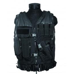 Mil-Tec Taktikaline vest püstolikabuuriga (must)