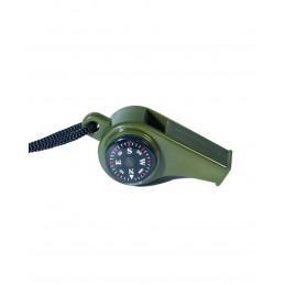 MIL-TEC termomeetri ja kompassiga vile
