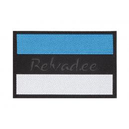 Eesti lipu embleem (PVC, mustal põhjal)