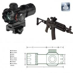 "UTG 3.9"" ITA Red/Green Dot Sight with Riser Adaptor, QD Mount"