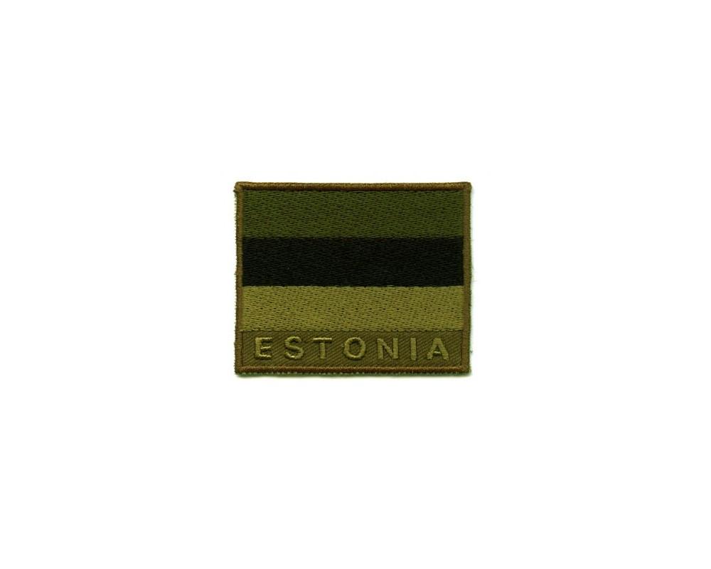 Eesti lipu embleem rohelistes toonides