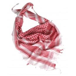 Shemagh (kõrbesall) valge-punane