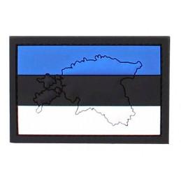 PVC embleem Eesti lipp (KAARDIGA)