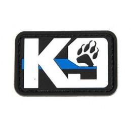 PVC PATCH K9 BLUE LINE PAW