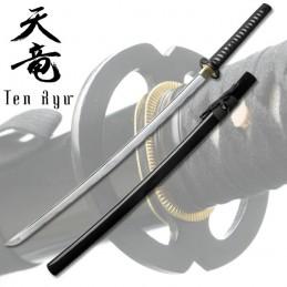 Ten Ryu Black Katana