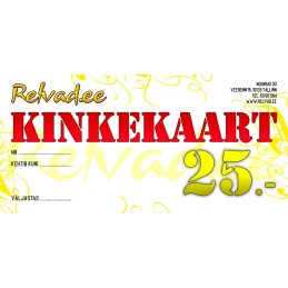 RELVAD.EE KINKEKAART 25 EUR