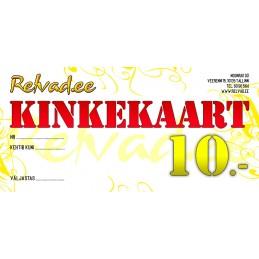 RELVAD.EE KINKEKAART 10 EUR