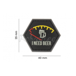 PVC PATCH I NEED BEER