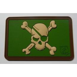 Pirate Skull Patch, multicam